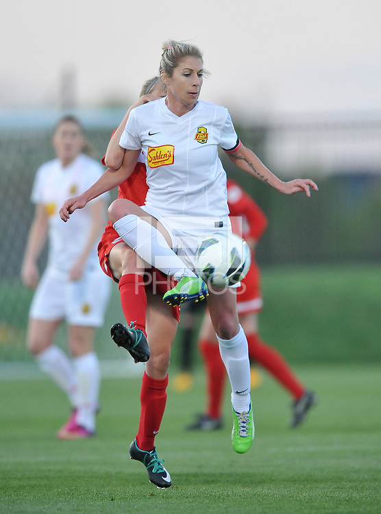 McCall Zerboni (7) of The Western New York Flash controls the ball. The Washington Spirit tied The Western New York 1-1 in the home opener of The National Women's Soccer League, at Maryland SoccerPlex, Saturday April 20, 2013.
