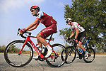 The breakaway group including Willem Smit (RSA) Katusha Alpecin and Krists Neilands (LAT) Israel Cycling Academy during the 99th edition of Milan-Turin 2018, running 200km from Magenta Milan to Superga Basilica Turin, Italy. 10th October 2018.<br /> Picture: Eoin Clarke | Cyclefile<br /> <br /> <br /> All photos usage must carry mandatory copyright credit (© Cyclefile | Eoin Clarke)