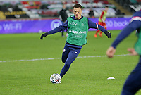 SWANSEA, WALES - NOVEMBER 12: Sergino Dest #2 of the United States national team warming up before a game between Wales and USMNT at Liberty Stadium on November 12, 2020 in Swansea, Wales.