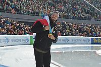 SCHAATSEN: AMSTERDAM: Olympisch Stadion, 11-03-2018, WK Allround, Coolste Baan van Nederland, Ereronde 2-voudig Olympisch kampioen Kjeld Nuis (NED), ©foto Martin de Jong