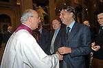 MONSIGNOR FRANCO CAMALDO CON ENRICO GASBARRA <br /> MESSA DI RINGRAZIAMENTO PER I 50 ANNI DI SACERDOZIO DEL CARDINAL CAMILLO RUINI - SAN GIOVANNI IN LATERANO ROMA 2004