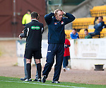 St Johnstone v Kilmarnock....20.10.12      SPL.Kenny Shiels holds his head in his hands.Picture by Graeme Hart..Copyright Perthshire Picture Agency.Tel: 01738 623350  Mobile: 07990 594431