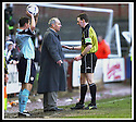 01/02/2003                   Copyright Pic : James Stewart.File Name : stewart-falkirk v st john 18.FORMER FALKIRK BOSS ALEX TOTTEN STARTS WHERE HE LEFT OFF BY GETTING INTO TROUBLE WITH THE REF.....James Stewart Photo Agency, 19 Carronlea Drive, Falkirk. FK2 8DN      Vat Reg No. 607 6932 25.Office     : +44 (0)1324 570906     .Mobile  : +44 (0)7721 416997.Fax         :  +44 (0)1324 570906.E-mail  :  jim@jspa.co.uk.If you require further information then contact Jim Stewart on any of the numbers above.........