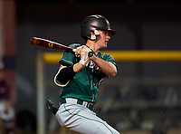 Venice Indians Connor O'Sullivan (4) bats during a game against the Braden River Pirates on February 25, 2021 at Braden River High School in Bradenton, Florida.  (Mike Janes/Four Seam Images)