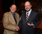 Albert Bergeret and Rupert Holmes during The New York Gilbert and Sullivan Players honor Composer Rupert Holmes at the Players Club on June 12, 2019 in New York City.