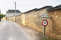 The village. Pommard, Cote de Beaune, d'Or, Burgundy, France