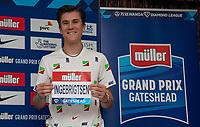 22nd May 2021; Hilton Hotel, Gateshead, England;  Diamond League Muller Athletics Grand Prix Gateshead press conference; Jakob Ingebrigtsen at the press conference