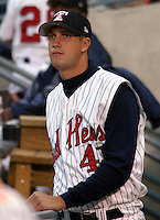 August 31, 2003:  Former first round draft pick Kyle Sleeth of the Toledo Mudhens, Class-AAA affiliate of the Detroit Tigers, during a International League game at Fifth Third Field in Toledo, OH.  Photo by:  Mike Janes/Four Seam Images