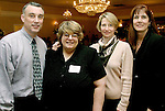 NAUGATUCK, CT-03 FEBRUARY 2004 -020305JS10-  Members of the United Way of Naugatuck & Beacon Falls fundraising team, from left, Andy Morrissey, Michele McDougall, Laura Dake-Roche and Rebecca Zandvliet at the United Way's annual meeting and awards ceremony held Thursday at Leary's Crystal Room in Naugatuck.--UUnited Way of Naugatuck & Beacon Falls; United Way of Naugatuck & Beacon Falls; Rebecca Zandvliet, Andy Morrissey, Michele McDougall, Laura Dake-Roche--Jim Shannon Photo