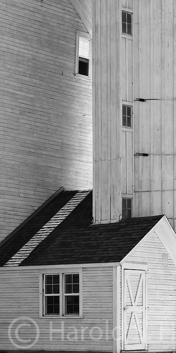Geometric shapes, designs and lines in a barn in the Palouse of Washington.