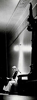1983 FILE PHOTO - ARCHIVES -<br /> <br /> Tranquil world: For the monks at a monestery at Oka; Que.; life is a cycle of prayer and work dedicated to God. Here Father Paul reads in a light that just happens to form a cross.<br /> <br /> PHOTO :  Mike Slaughter  - Toronto Star Archives - AQP