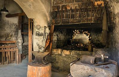 Austria, Tyrol, Rattenberg: historic nailer at old town   Oesterreich, Tirol, Rattenberg: historische Nagelschmiede im Zentrum der Altstadt