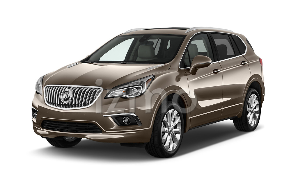 2018 Buick Envision Premium-II-AWD 5 Door SUV Angular Front stock photos of front three quarter view