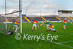 Pádraig  Boyle, Kerry scores a late point during the Joe McDonagh hurling cup fourth round match between Kerry and Carlow at Austin Stack Park on Saturday.