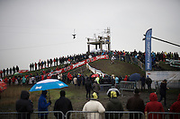 race leader & U23 World Champion Eli Iserbyt (BEL/Telenet-Fidea) leading the race<br /> <br /> Noordzeecross - Middelkerke 2016