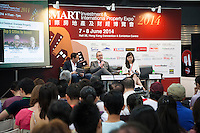Seminar on overseas property investment at the Smart International Property Investment Expo at the Hong Kong Convention and Exhibition Centre in Hong Kong. <br /> 07-08 June, 2014<br /> <br /> Photo by Tim O'Rourke / Sinopix