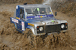 Land Rover Defender racing at the Rallye Dresden Breslau 2007. --- No releases available. Automotive trademarks are the property of the trademark holder, authorization may be needed for some uses.