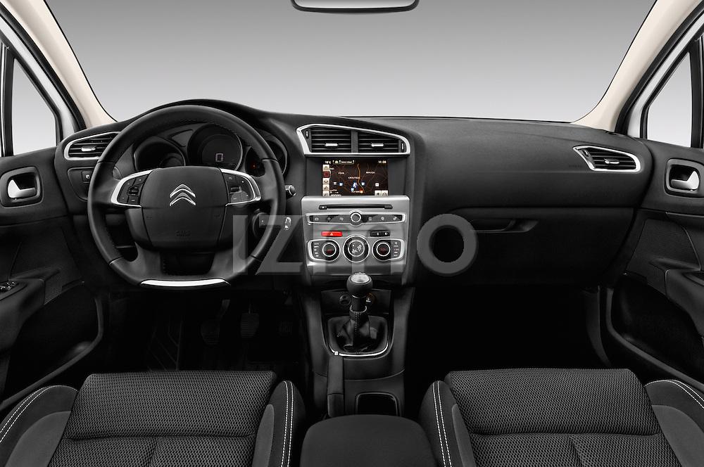 Stock photo of straight dashboard view of 2016 Citroen C4 Feel 5 Door Hatchback Dashboard