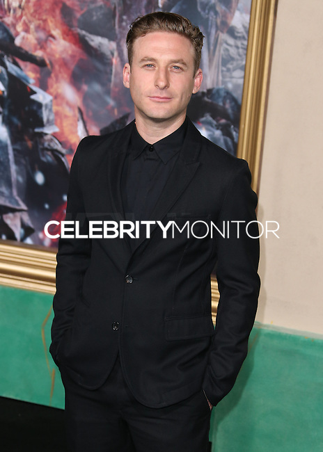 HOLLYWOOD, LOS ANGELES, CA, USA - DECEMBER 09: Dean O'Gorman  arrives at the World Premiere Of New Line Cinema, MGM Pictures And Warner Bros. Pictures' 'The Hobbit: The Battle of the Five Armies' held at the Dolby Theatre on December 9, 2014 in Hollywood, Los Angeles, California, United States. (Photo by Xavier Collin/Celebrity Monitor)