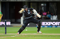 NZ's Hannah Rowe bats during the 2nd international women's T20 cricket match between the New Zealand White Ferns and Australia at McLean Park in Napier, New Zealand on Tuesday, 30 March 2021. Photo: Dave Lintott / lintottphoto.co.nz