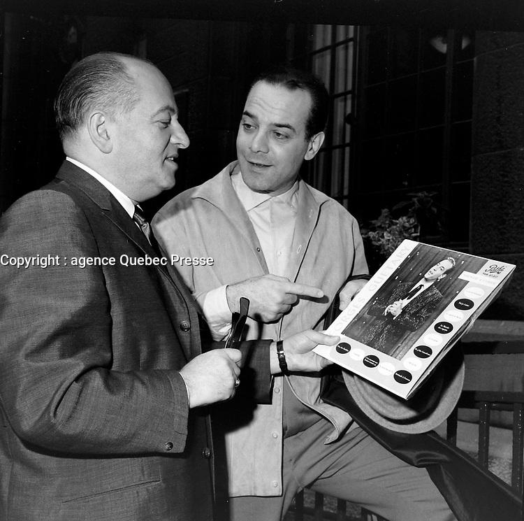 Georges Guetary<br /> le 18 juin 1960<br /> <br /> Photographe : Photo Moderne<br /> - Agence Quebec Presse