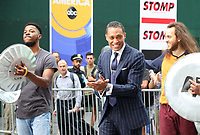 NEW YORK, NY- JULY 21: The Cast Of Stomp and T.J. Holmes on the set of Good Morning America in New York City on July 21, 2021. Credit: RW/MediaPunch
