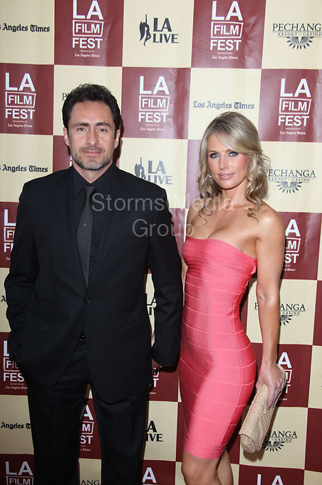 LOS ANGELES, CA - JUNE 21:  Demian Bichir_Stefanie Sherk  arrives at 'A Better Life' World Premiere Gala Screening during the 2011 Los Angeles Film Festival at Regal Cinemas L.A. LIVE on June 21, 2011 in Los Angeles, California.<br />  <br /> People:   Demian Bichir_Stefanie Sherk