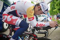 Tour of Belgium 2013.stage 3: iTT..warming up: Greg Henderson (NZL).