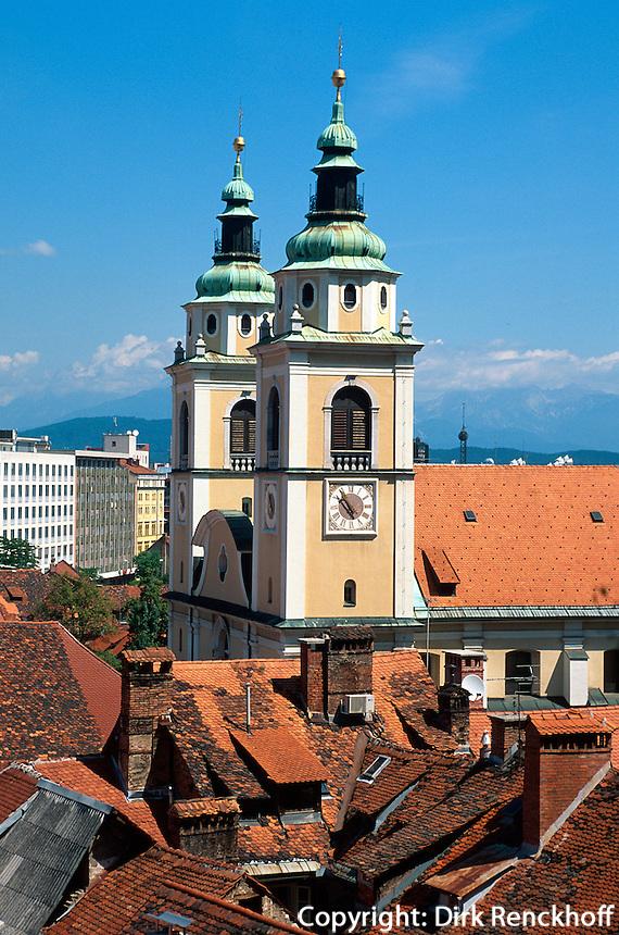 Lubljana, Blick auf Dom, Slowenien