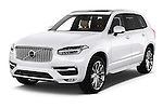 2015 Volvo XC90 Inscription7 5 Door SUV Angular Front stock photos of front three quarter view