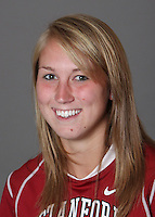 STANFORD, CA - OCTOBER 29:  Sarah Blahnik of the Stanford Cardinal women's lacrosse team poses for a headshot on October 29, 2009 in Stanford, California.