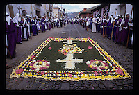 Semana Santa (Holy Week), parades and processions through the streets, during Easter week in the city of Antigua, Guatemala. Photos taken April 1993.(Anacleto Rapping @2007)