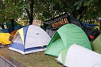 Occupons Montreal au Square Victoria, Octobre 2011 -<br /> <br /> Photo : Agence Quebec Presse