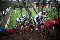 CX world champion Mathieu Van der Poel (NED/Alpecin-Fenix)<br /> <br /> 2021 UCI CX World Cup Overijse (BEL)<br /> Vlaamse Druivencross<br /> <br /> Men's Race<br /> <br /> ©kramon