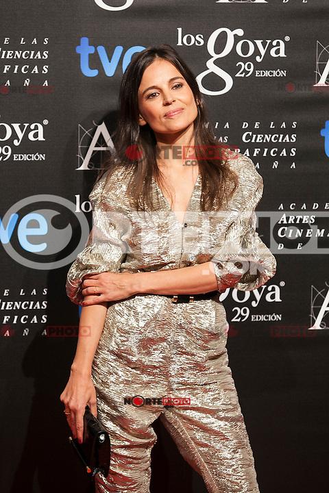 Elena Anaya poses before the 2015 Goya Awards nominee ceremony in Madrid, Spain. January 19, 2015. (ALTERPHOTOS/Victor Blanco)