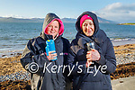 Amanda Bentley Curran and Aisling Brosnan from Fenit, having a hot cuppa, after enjoying the plunge in the water in Fenit on Sunday.