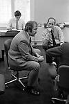 Men working in an office City of London 1970s.
