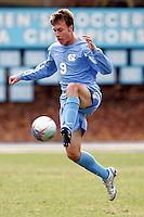 North Carolina's Michael Harrington. Southern Methodist University defeated the University of North Carolina 3-2 in double overtime at Fetzer Field in Chapel Hill, North Carolina, Saturday, December 3, 2005.