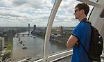 Sam Dickson. London Eye. 13 May 2015. England. Photo: Marc Weakley