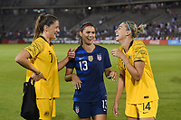 East Hartford, CT- Sunday July 29, 2018: 2018 Tournament of Nations match between the women's national teams of the United States (USA) and Australia (AUS) at the Pratt & Whitney Stadium at Rentschler Field.