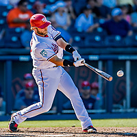 2 March 2019: Washington Nationals catcher Spencer Kieboom pinch hits in the 8th inning of a Spring Training game against the Minnesota Twins at the Ballpark of the Palm Beaches in West Palm Beach, Florida. The Nationals defeated the Twins 10-6 in Grapefruit League play. Mandatory Credit: Ed Wolfstein Photo *** RAW (NEF) Image File Available ***