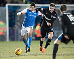 St Johnstone v Rangers…27.02.18…  McDiarmid Park    SPFL<br />Joe Shaughnessy and Josh Windass<br />Picture by Graeme Hart. <br />Copyright Perthshire Picture Agency<br />Tel: 01738 623350  Mobile: 07990 594431