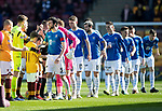 Motherwell v St Johnstone….30.03.19   Fir Park   SPFL<br />Joe Shaughnessy leads saints out<br />Picture by Graeme Hart. <br />Copyright Perthshire Picture Agency<br />Tel: 01738 623350  Mobile: 07990 594431