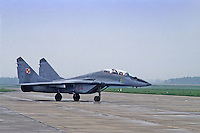 "- Aviazione Polacca, 1o reggimento caccia intercettori ""Warsavia"", aereo Mig 29  di costruzione Sovietica<br />