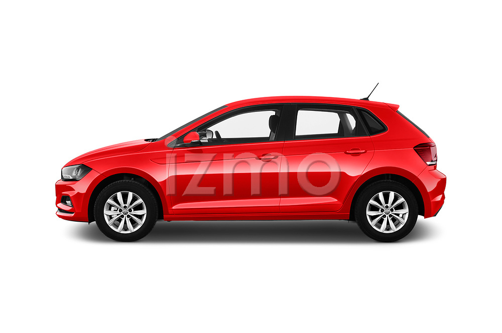 Car driver side profile view of a 2018 Volkswagen Polo High Line 5 Door Hatchback