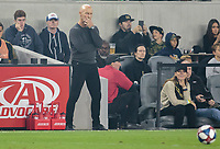 LOS ANGELES, CA - OCTOBER 29: Los Angeles FC manager Bob Bradley ponders what is next while pacing the sideline during a game between Seattle Sounders FC and Los Angeles FC at Banc of California Stadium on October 29, 2019 in Los Angeles, California.