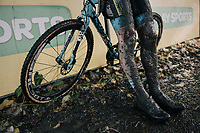 post-race legs<br /> <br /> U23 Men's race<br /> Superprestige Gavere / Belgium 2017
