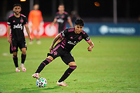 LAKE BUENA VISTA, FL - JULY 27: Raul Ruidiaz #9 of the Seattle Sounders dribbles the ball during a game between Seattle Sounders FC and Los Angeles FC at ESPN Wide World of Sports on July 27, 2020 in Lake Buena Vista, Florida.