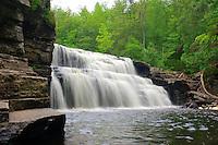 Big Canyon Falls on the Sturgeon River near L'Anse, Michigan.