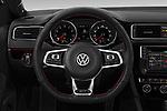 Car pictures of steering wheel view of a 2017 Volkswagen Jetta GLI 4 Door Sedan Steering Wheel